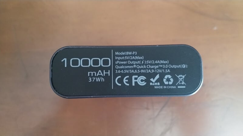 Powerbank specifications