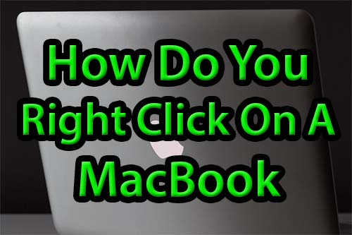 How do you right click on a MacBook Air