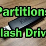 Two partitions on USB Flash Drive