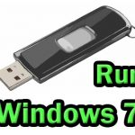 How to run Windows 7 from USB drive