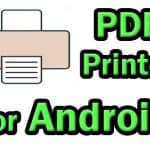 How to print PDF file from Android phone