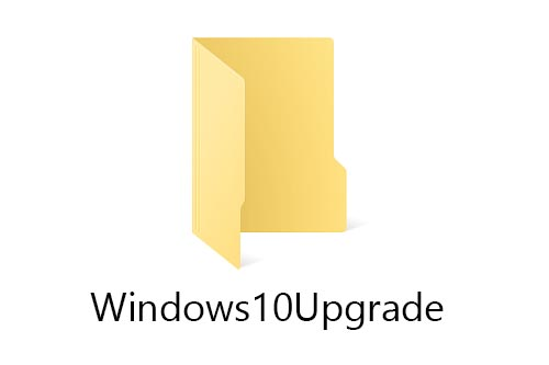 How to delete Windows10Upgrade folder to recover disk space