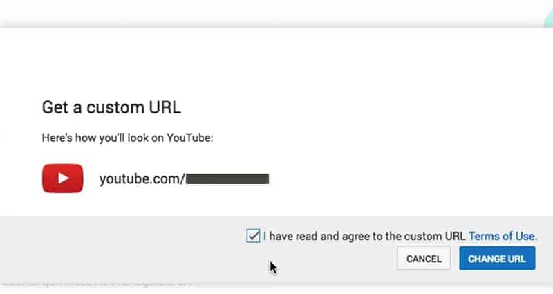 Get a custom YouTube URL (or change a YouTube channel URL)
