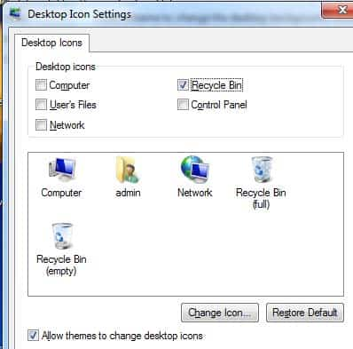 w to remove Recycle Bin from Desktop (hide the Recycle Bin icon)