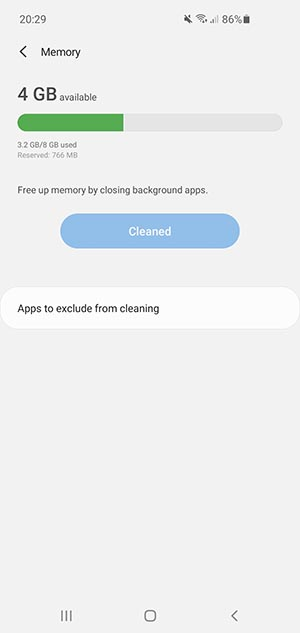How to free RAM on an Android device 9