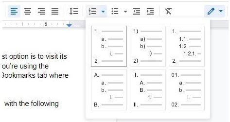 How to add line numbers in Google Docs