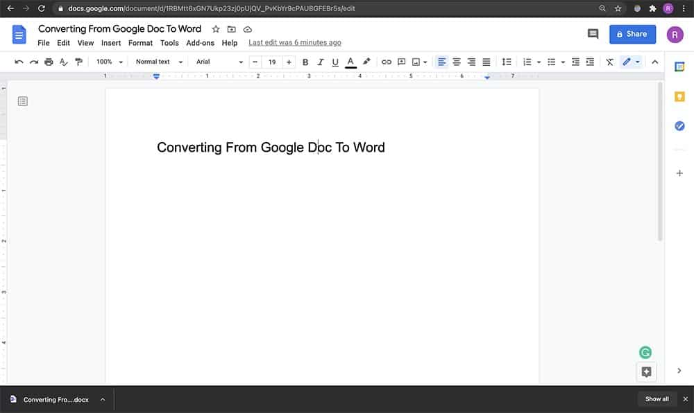 How to convert Word Doc to a Google Doc