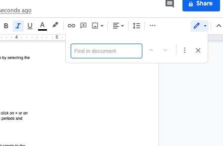 How to make periods bigger on Google Docs