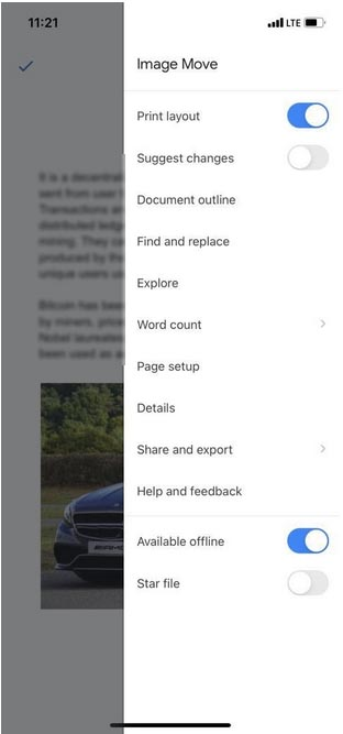 How to move images in Google Docs