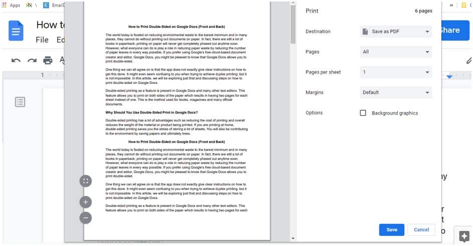 How to print double sided on Google Docs (front and back)