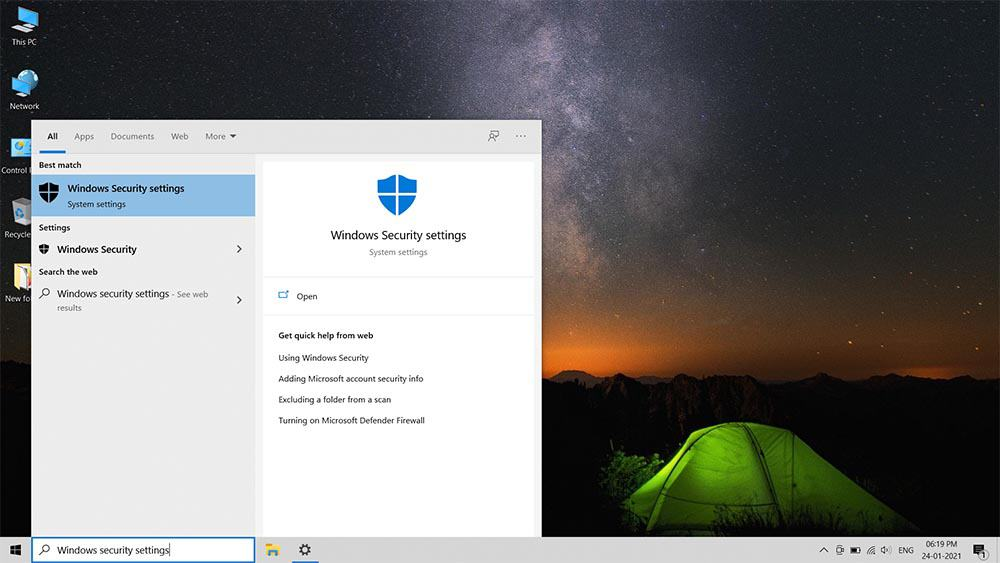 How to turn on off Windows Defender in Windows