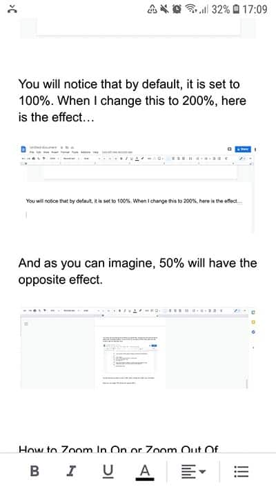How to Zoom In on Google Docs