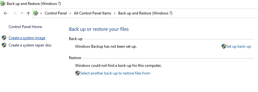 How to create a Windows 10 image backup