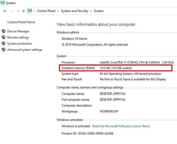 How to check RAM and RAM speed on Windows 10