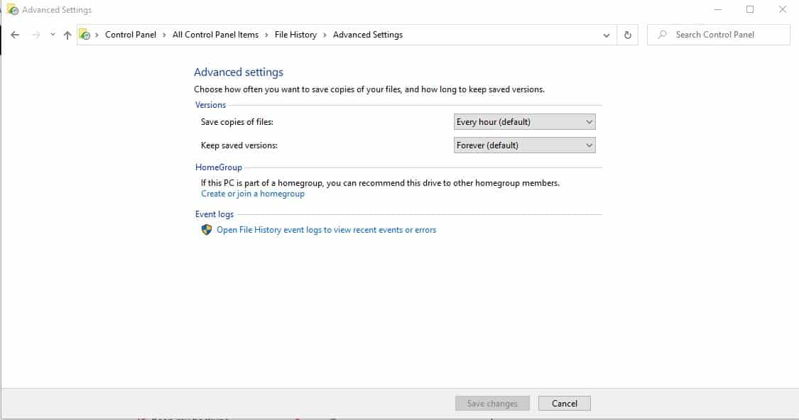 How to delete backup files in Windows 10