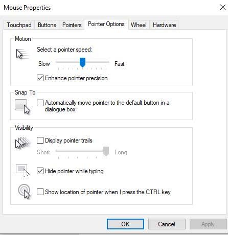 How to turn off mouse acceleration in Windows 10