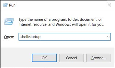 How to make a program run on startup on Windows 10