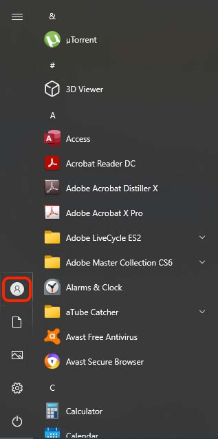 How to lock Windows 10
